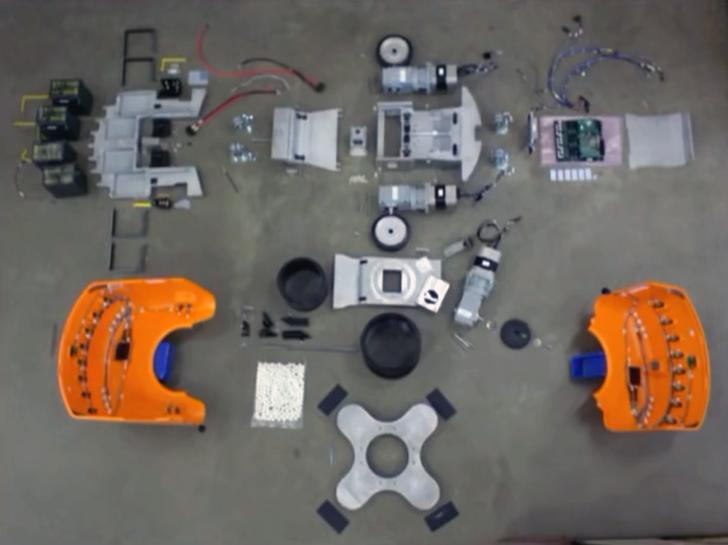 3D printed amazon fulfillment robot