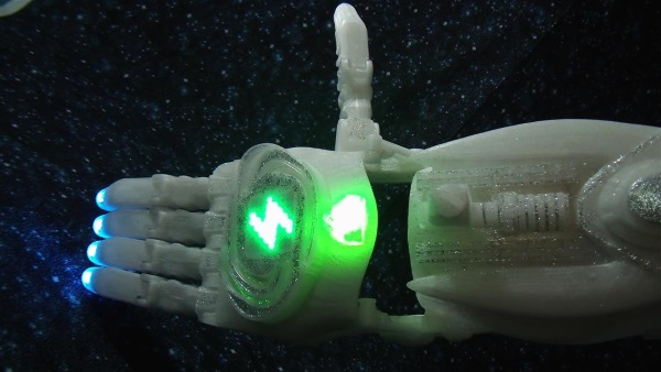 3D printed cosmogony game prosthetic enable