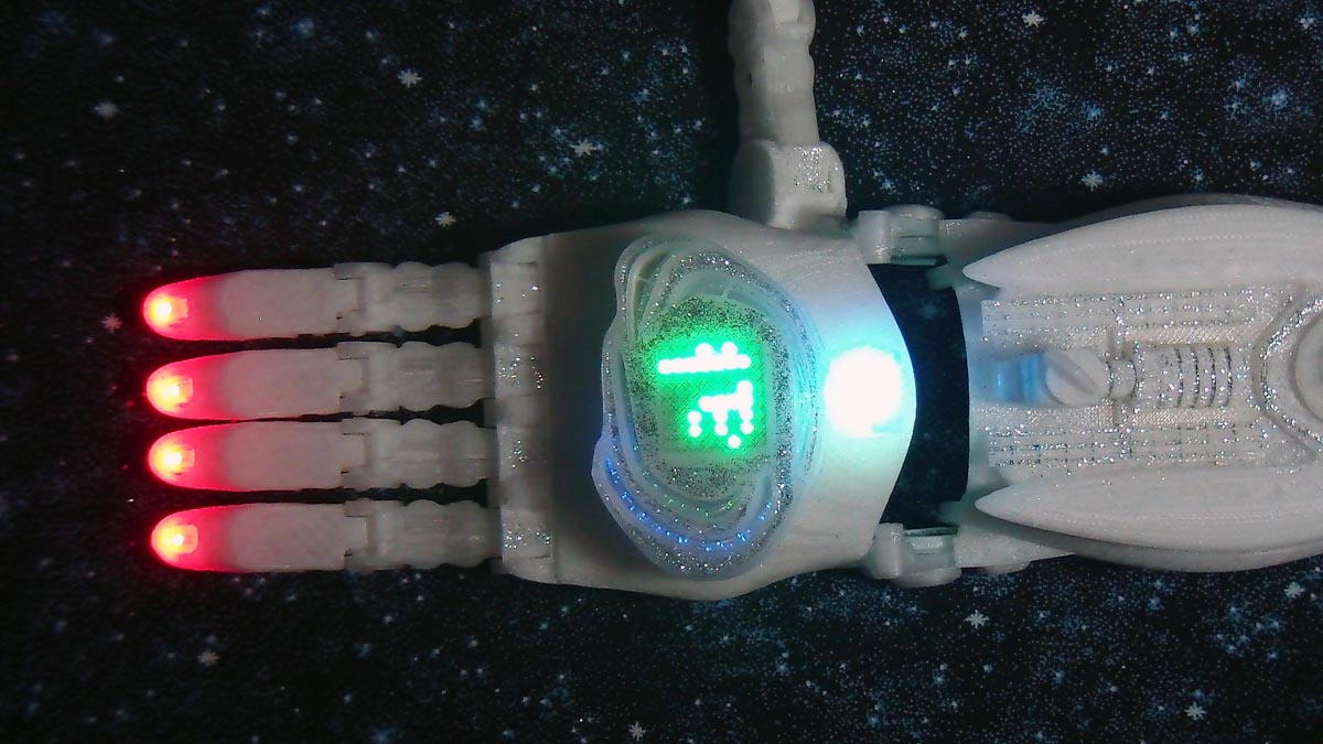 3D printed cosmogony gaming prosthetic