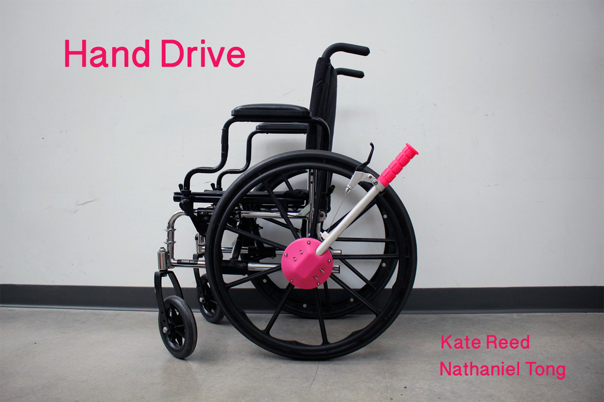 3D printed handrive accessory for wheelchairs