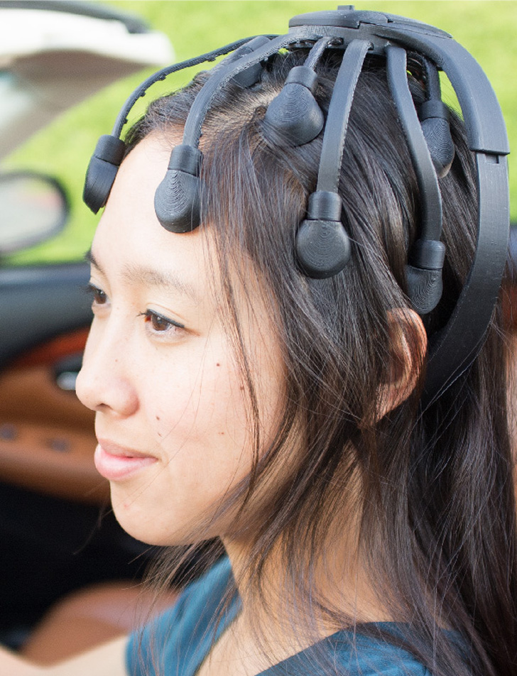 3D printed parts for EEG headset from cognionics