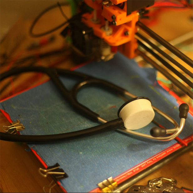 3D printed stethoscope from dr. loubani in gaza