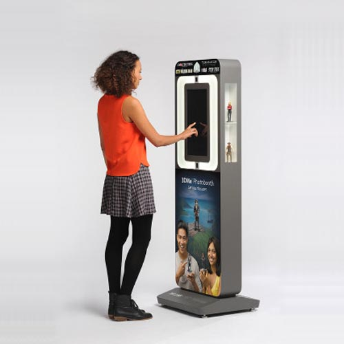 3dme photobooth for 3D scanning 3D printing collectibles from 3D Systems retail kiosk