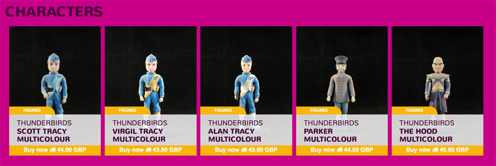 Thunderbirds 3D printable characters on Launzer.com