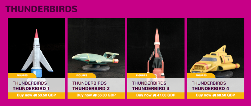 Thunderbirds 3D printable ships on Launzer.com
