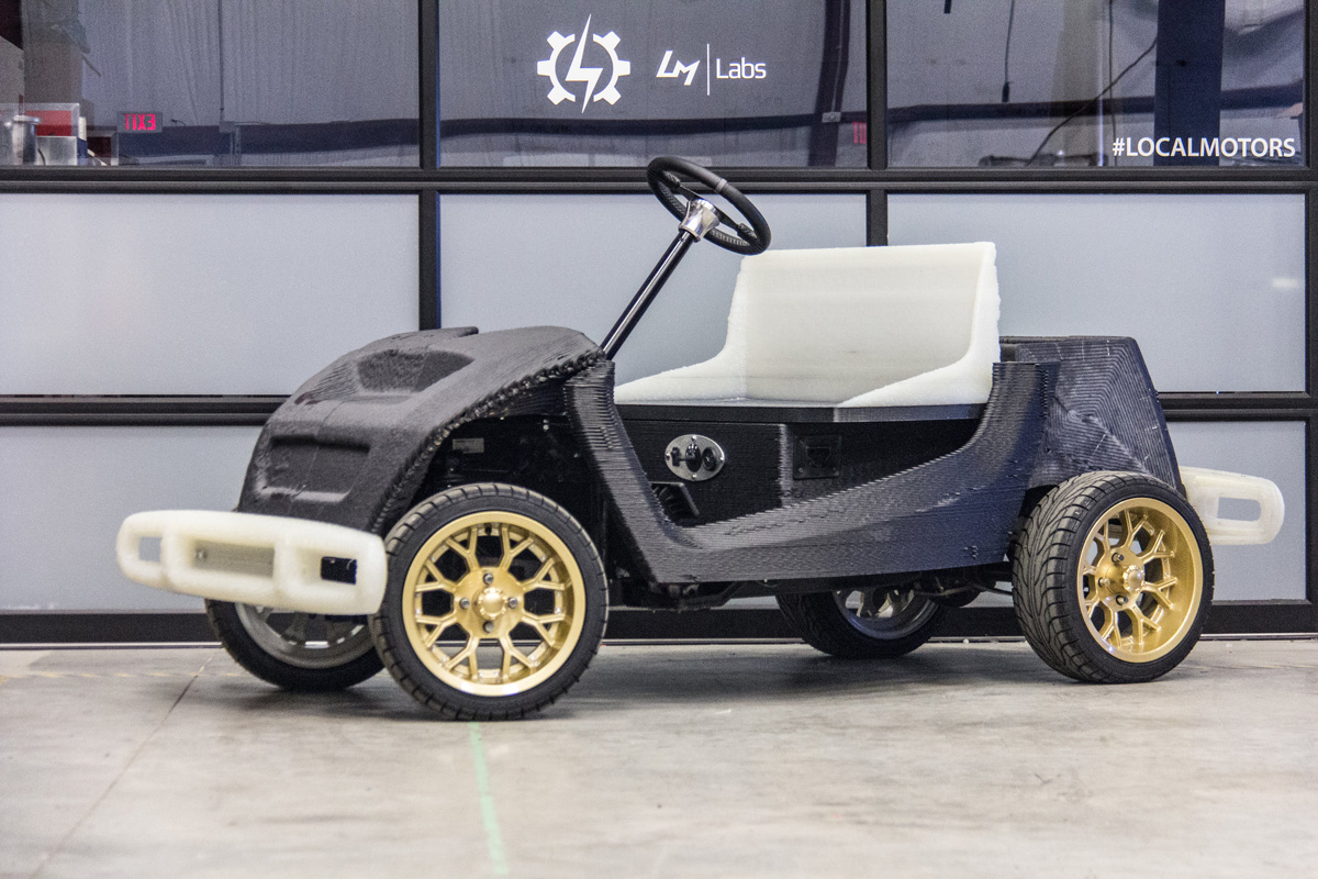 asu design local motors 3d printed car 3d printing industry - Cars Pictures To Print