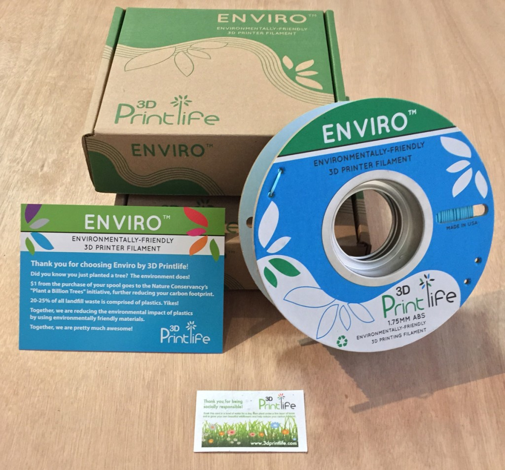 enviro abs 3D printing filament from 3D printlife seed package