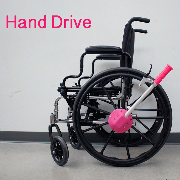 feature 3D printed handrive accessory for wheelchairs