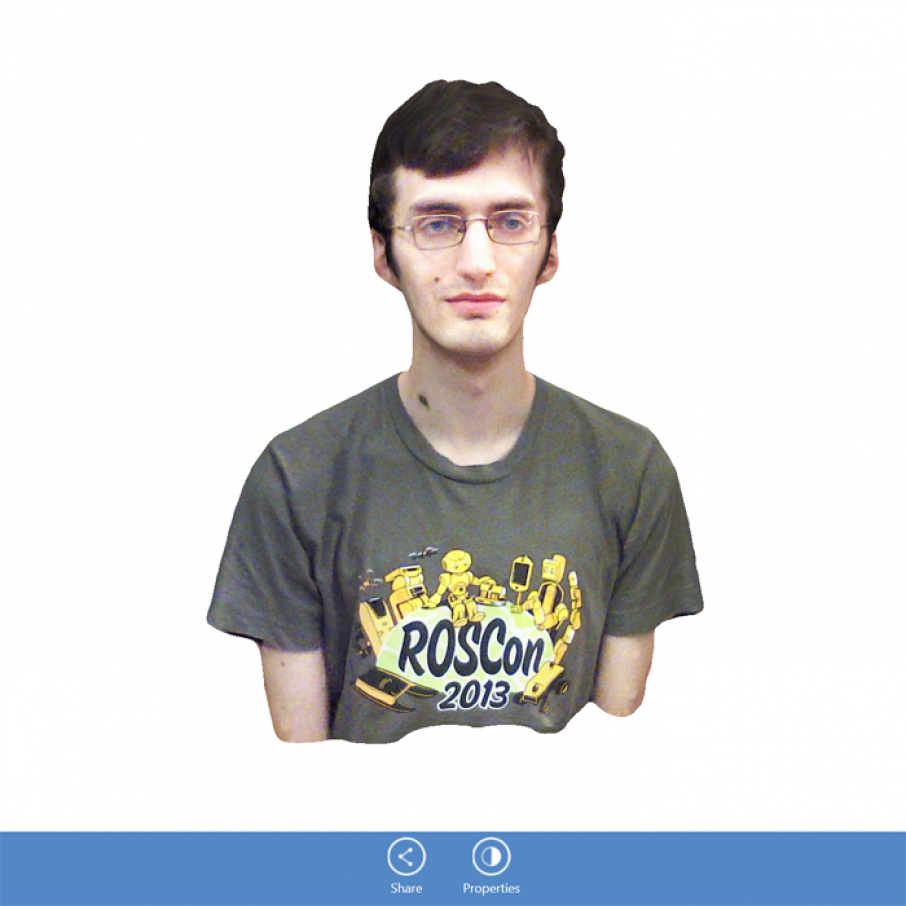 itseez3D realsense intel 3D scanning