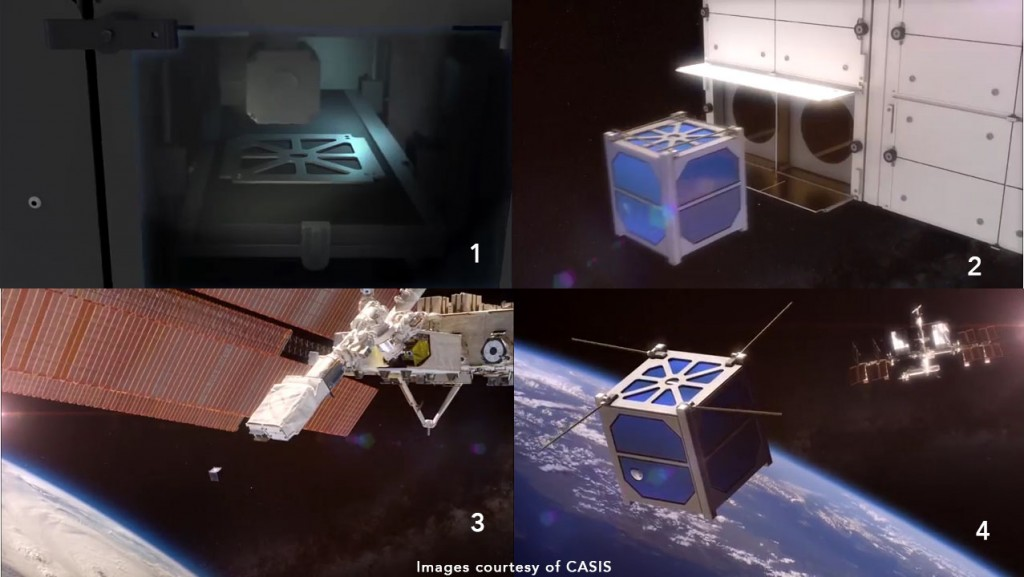 made in space 3D printed satellite deployment