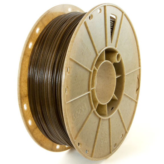 wound up coffee 3D printing filament from 3Dom c2renew