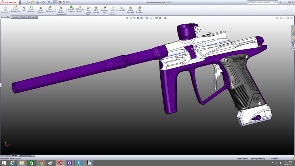 3D printing design for j4 paintball guns