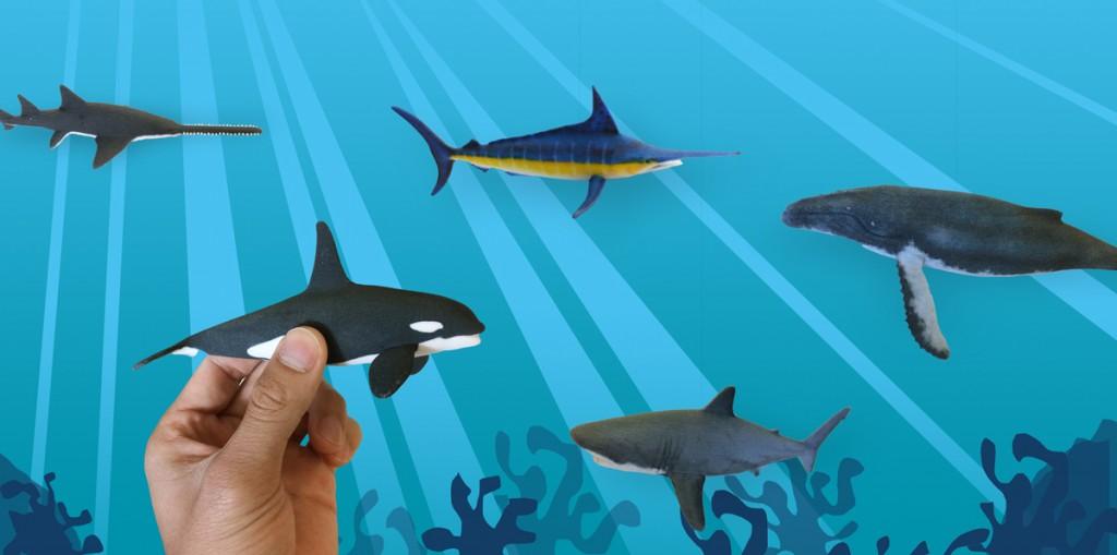 3D printing sharks for shark week 3D Hubs TurboSquid