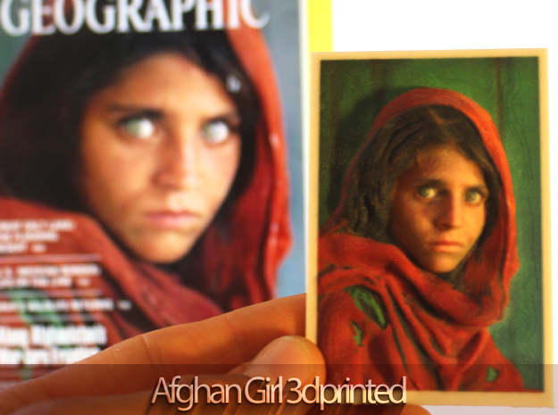 3d printed afghan girl