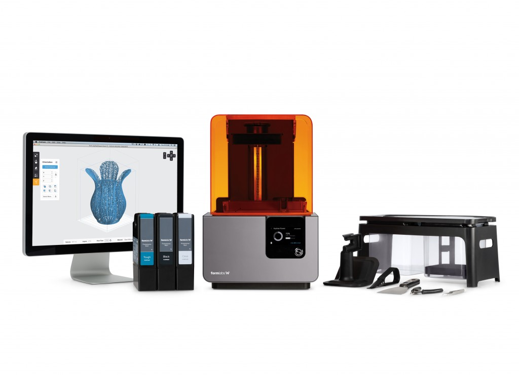 Formlabs Form 2 SLA 3D printing device ecosystem