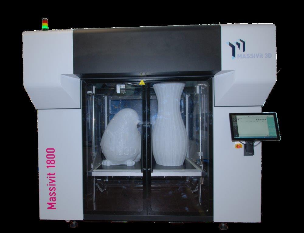 Huge Massivit 1800 3d Printer Installed At Communications
