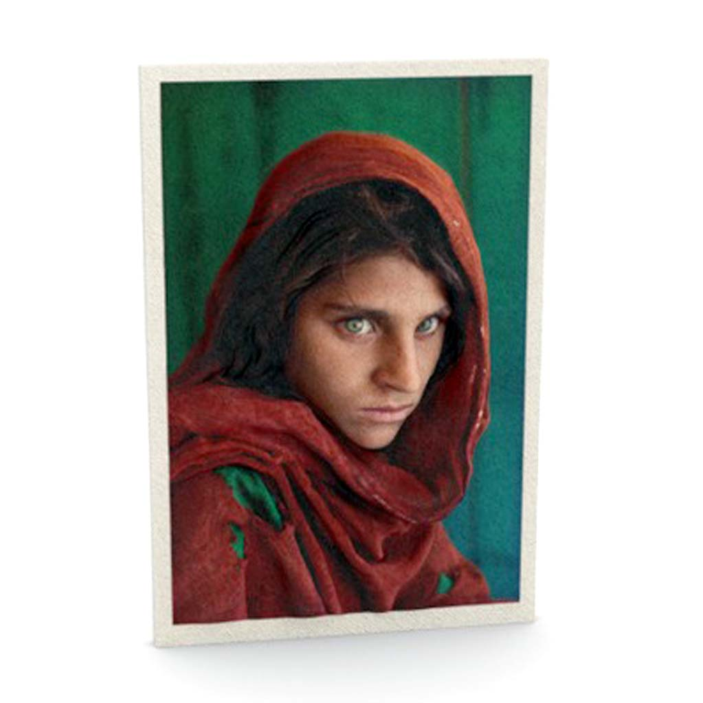 National Geographic Afghan Girl 3D Printed