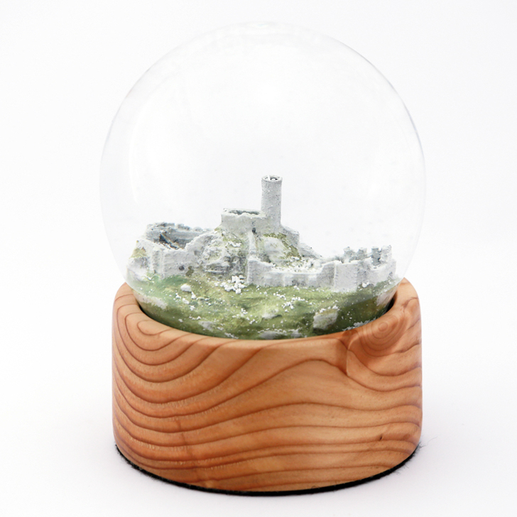 Smolen Castle 3D printed snow globe from Juriperus