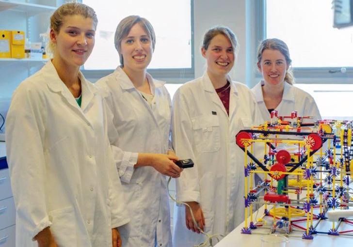 TU Delft biofilm 3D printer made from k'nex
