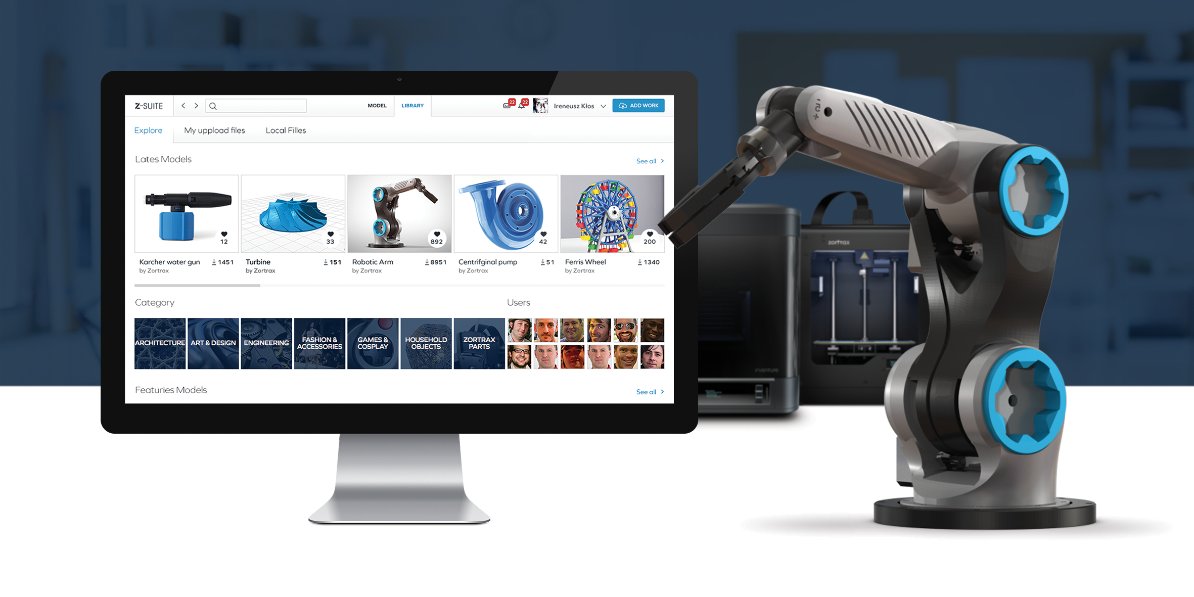 Zortrax 39 S Online 3d Model Library 3d Printing Industry