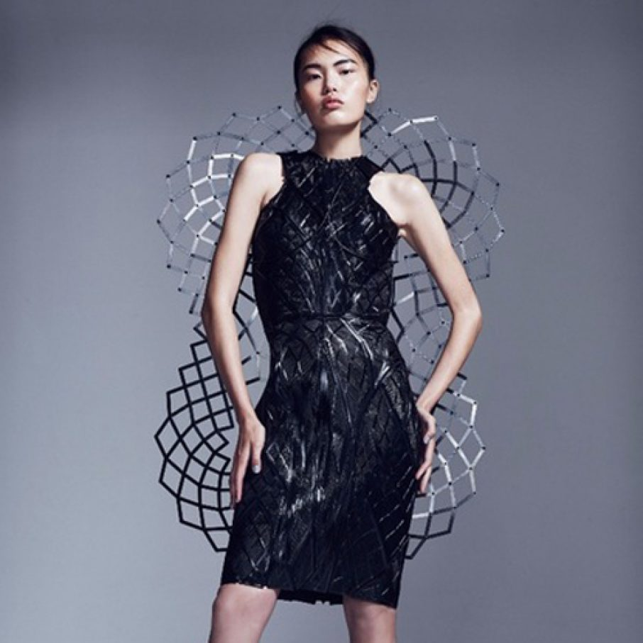 chromat 3D printed dress with intel