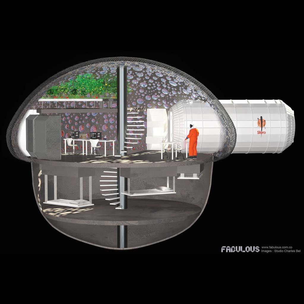 SFERO 3D Printed Mars Habitat Concept