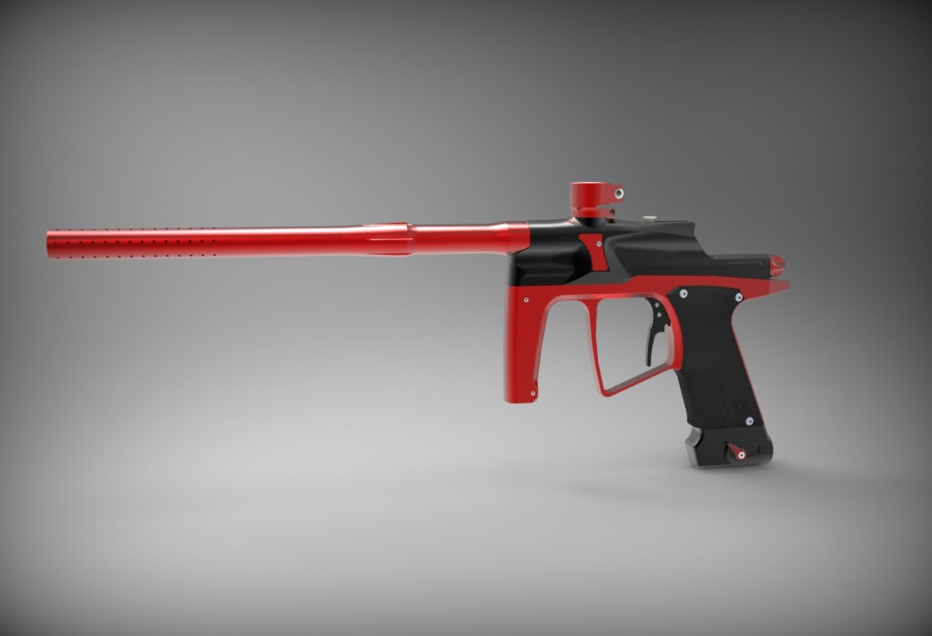 j4 paintball gun prototyped with 3D printing