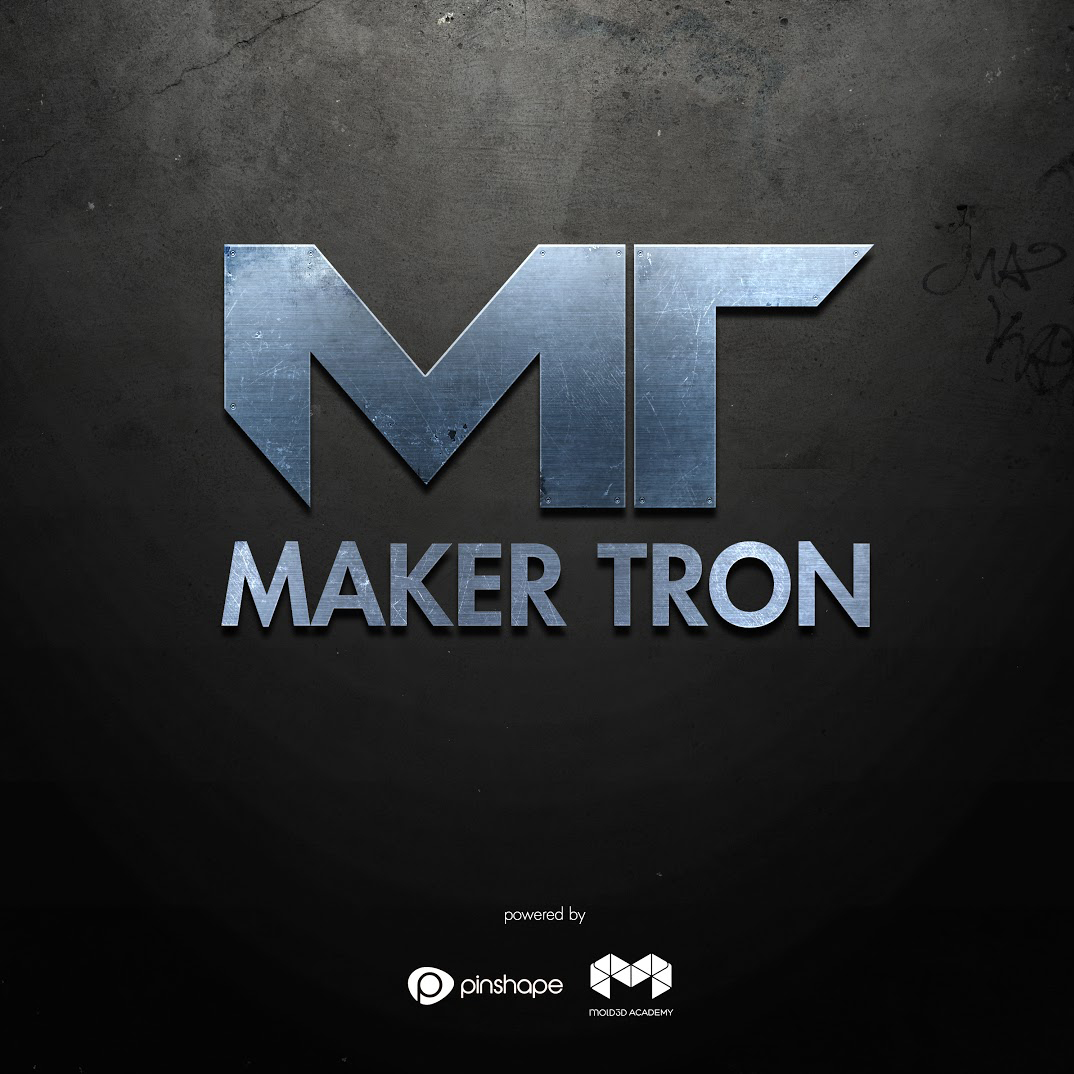 logo for makertron 3D printing contest from mold 3d academy and pinshape