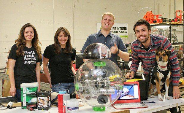 loveland makerspace 3D prints bb-8 droid