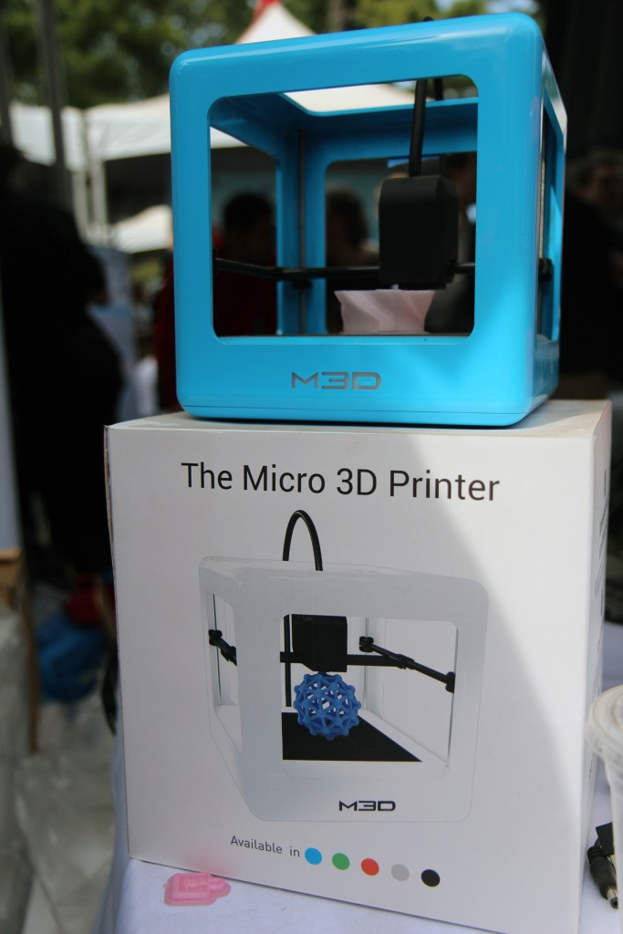 micro 3D printer at world maker faire NYC