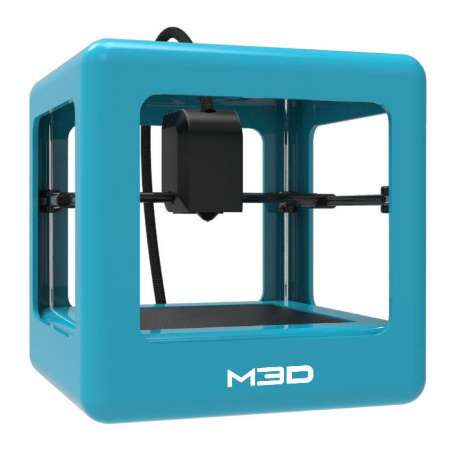 micro 3D printer in blue