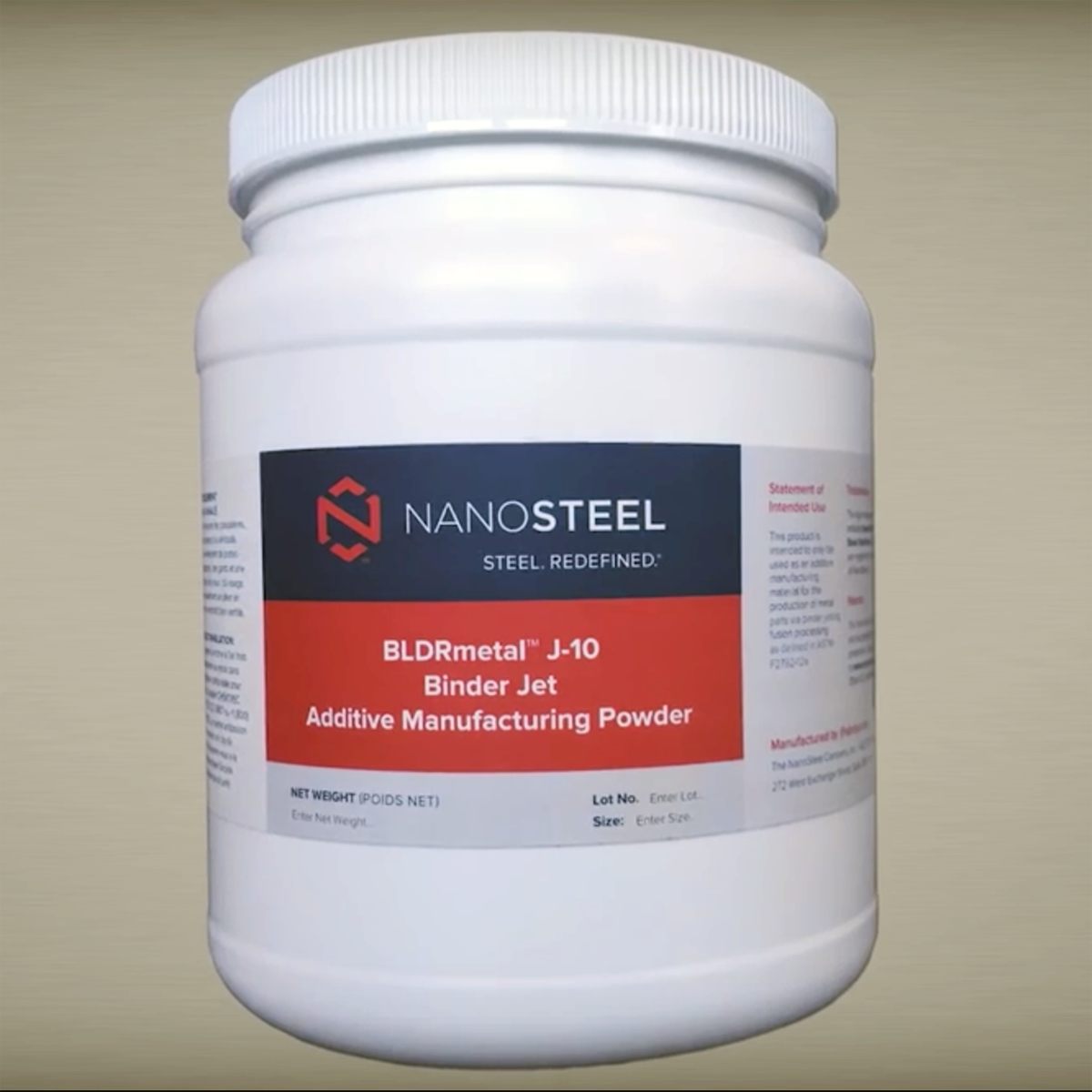 nanosteel enters 3d printing with performance powders for metal