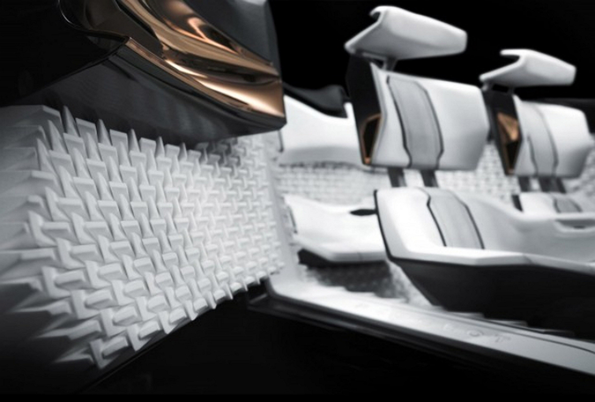 peugeot peugeot fractal 3D printed car part interior