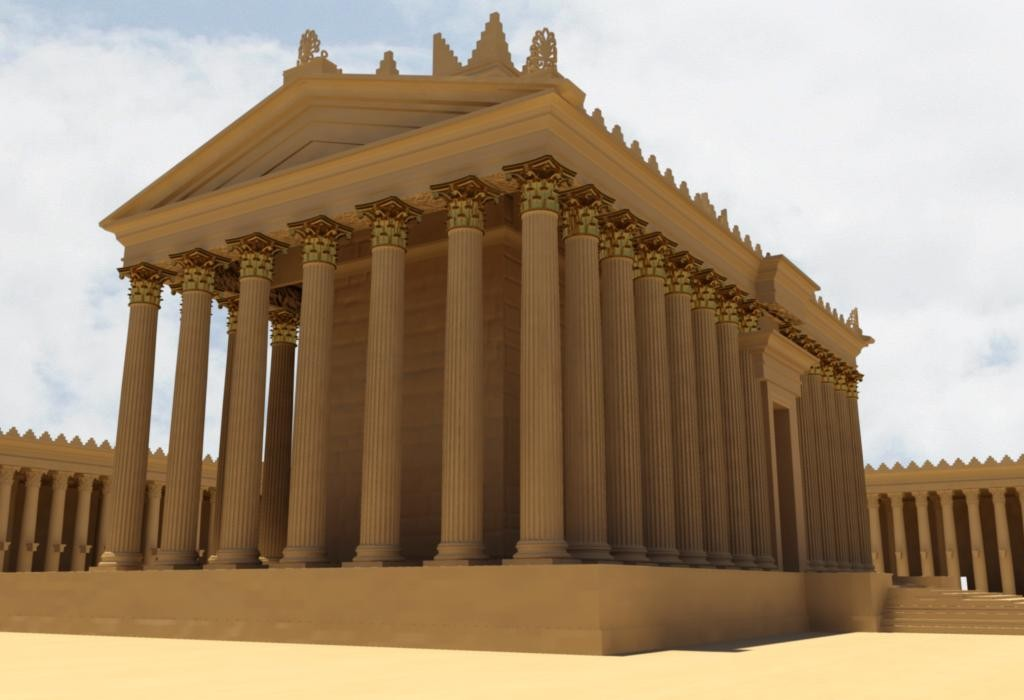 3D printable temple of bel by #NEWPALMYRA #FREEBASSE