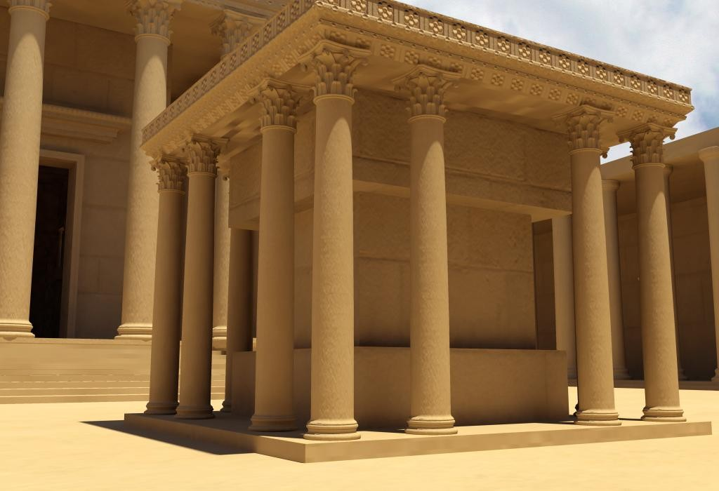 3D printable temple of bel by #NEWPALMYRA #FREEBASSEL