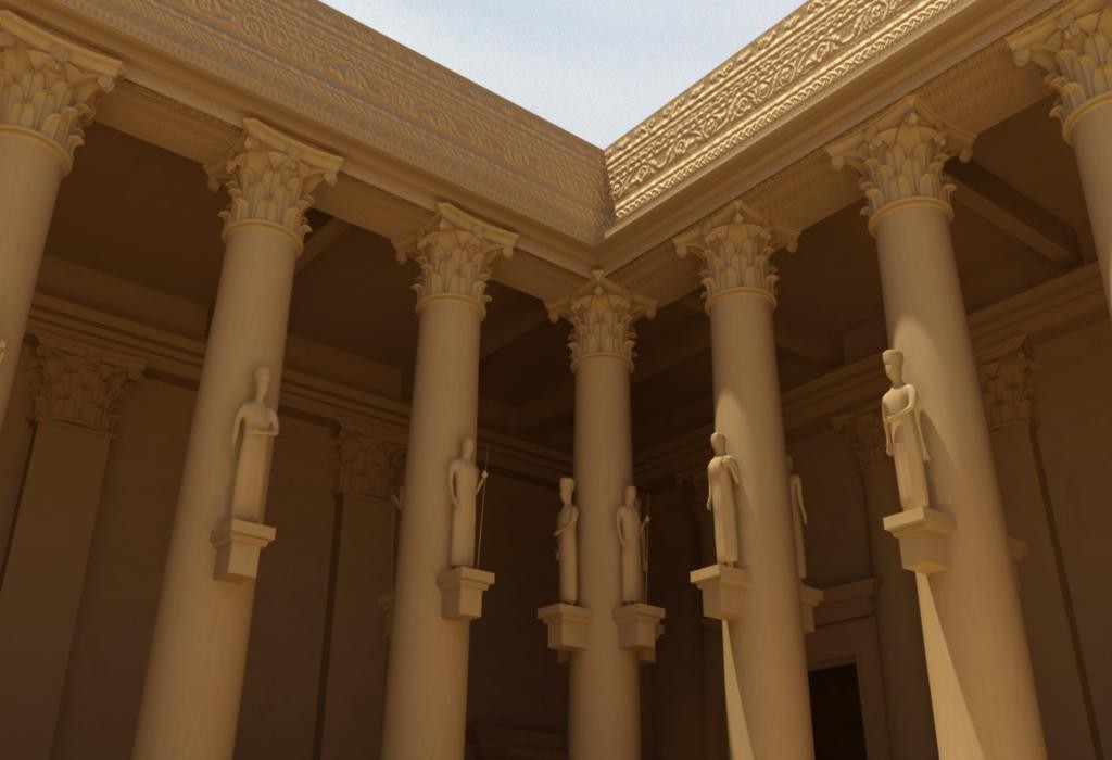 3D printable temple of bel by #NEWPALMYRA #FREEBASSEL INTERIOR