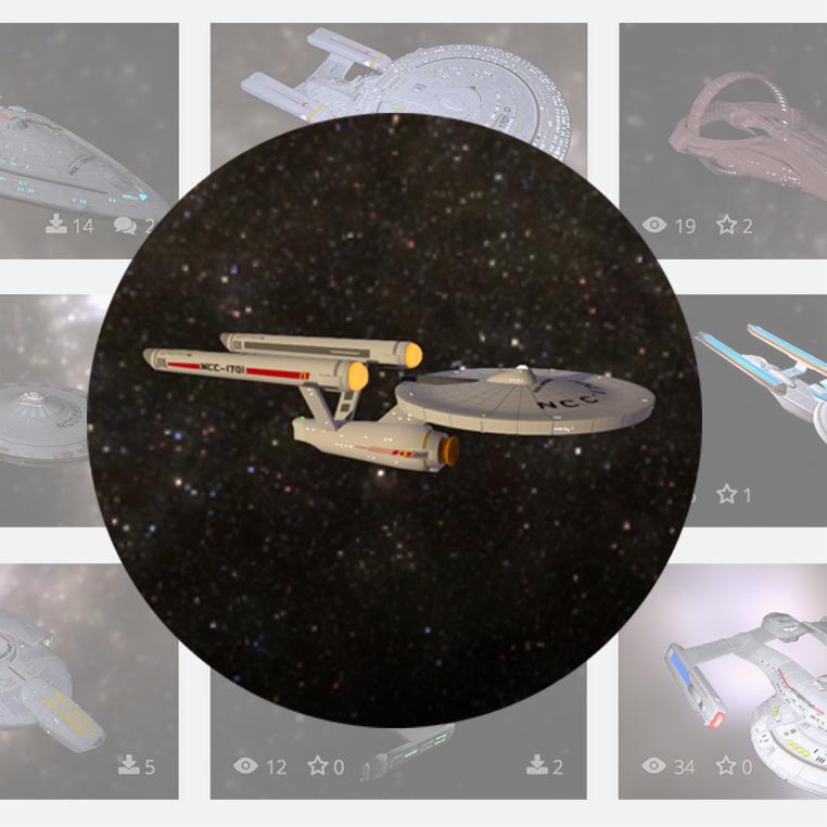 3D printable uss enterprise and other star trek ships
