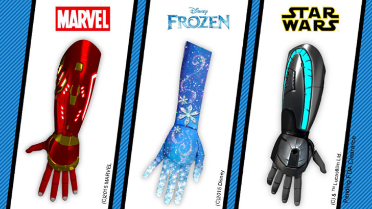 3D printed disney prosthetics from open bionics