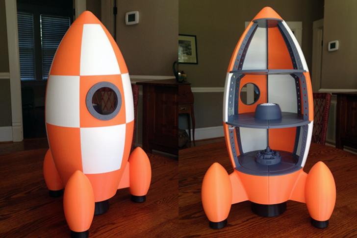 Maker Grandpa 3D Prints Complete Rocketship Playhouse