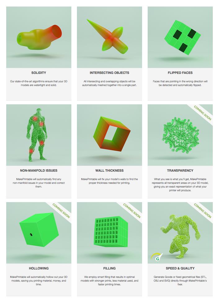 3D printing file repair makeprintable fixes