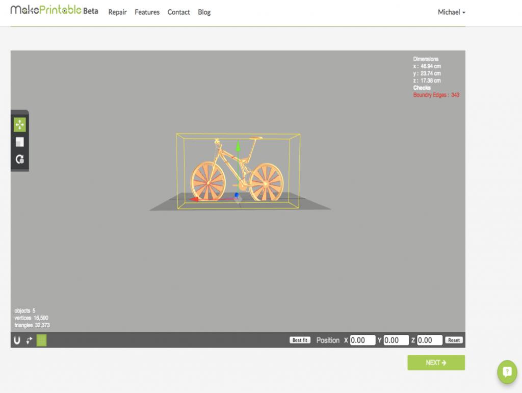 3D printing file repair makeprintable step 2