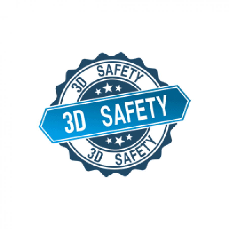 3D safety logo for 3D printing safety