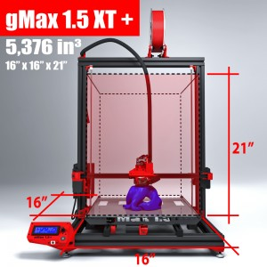 Print volume specs of the XT+