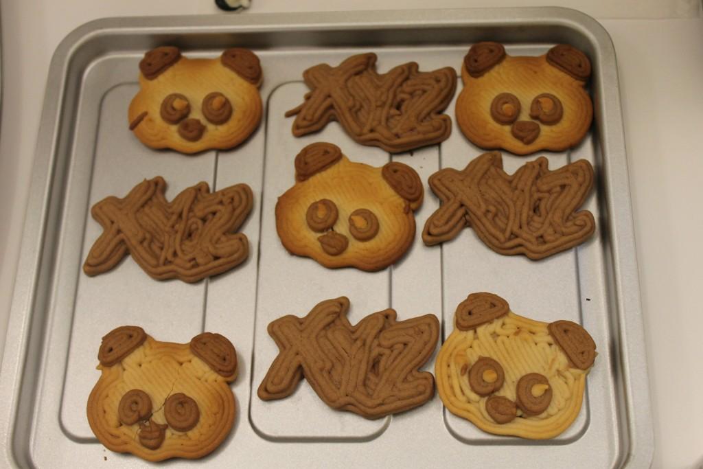Cookies made with the XYZprinting food printer