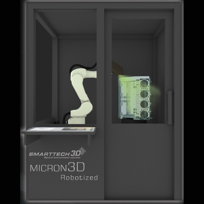 Roboticized 3D scanner from smarttech for 3D printing