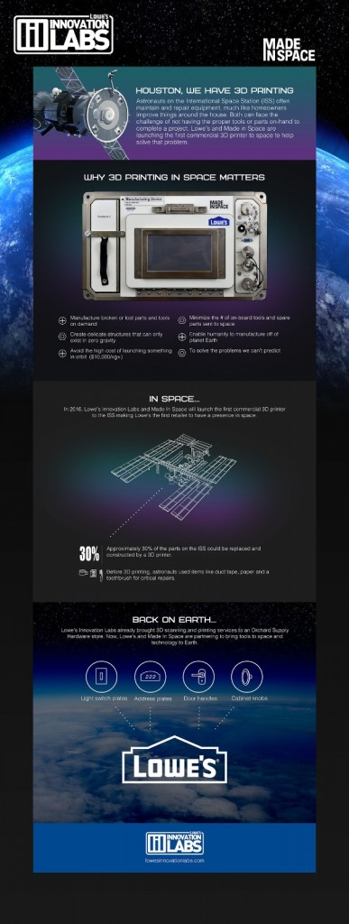 lowe's 3D printer in space by made in space