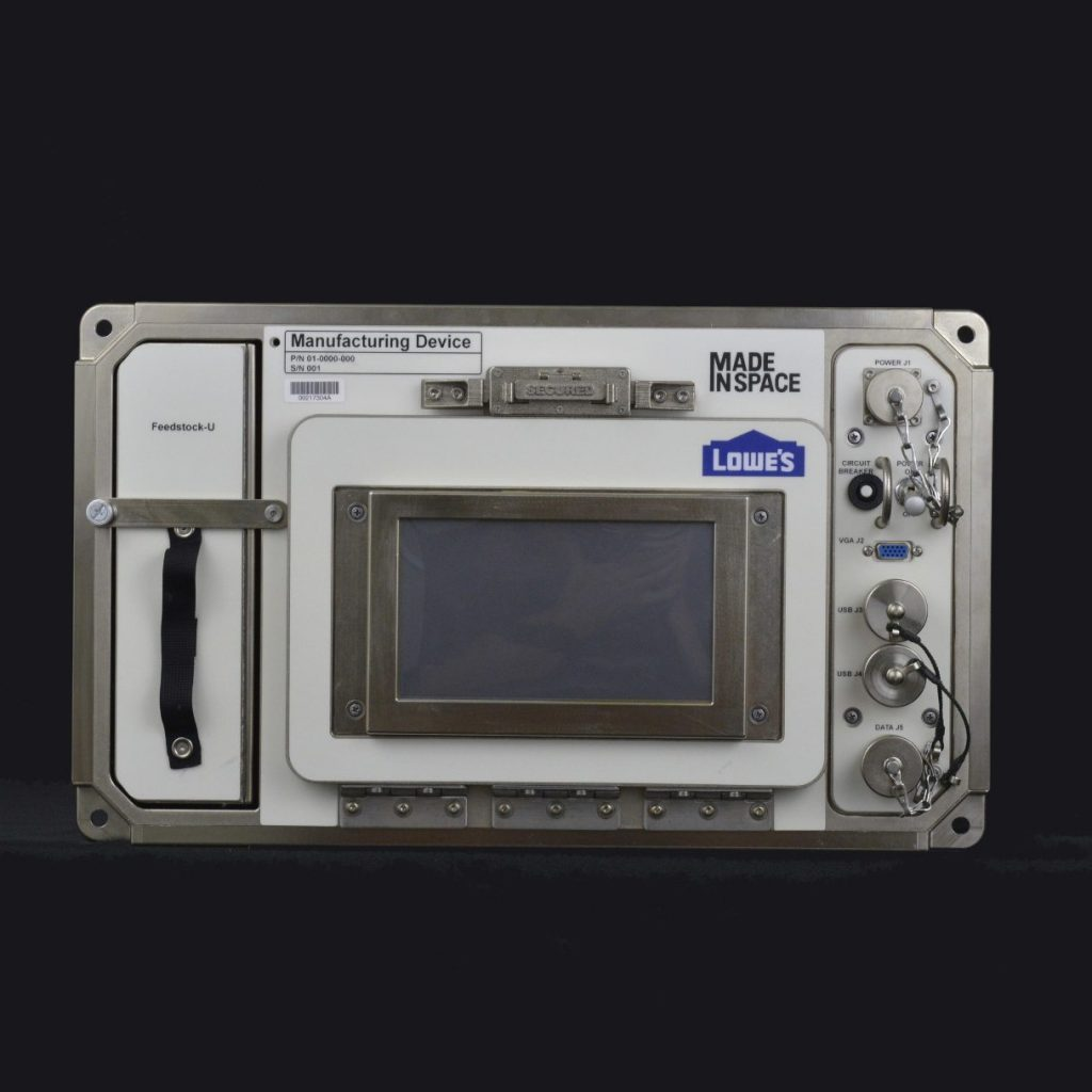 made in space additive manufacturing facility lowe's 3D printer in space