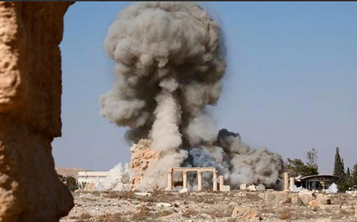 palmyra during ISIS destruction