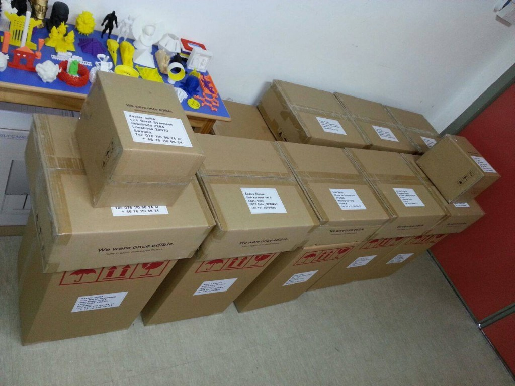 pirate3D buccaneer 3D printers ready to ship