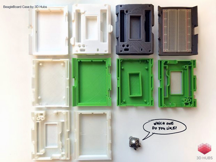 various colors 3D printed portable lab with BeagleBone Black from 3D Hubs